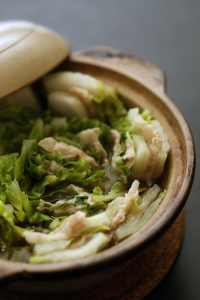 日本橋だし研究所の天然だしパックで作る白菜ミルフィーユ鍋