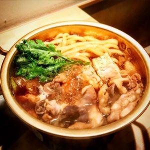 本町製麺所天本店鶏すき鍋うどん