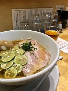 本町製麺所阿倍野卸売工場中華そば工房夏季限定冷やし酢橘そば
